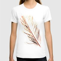 T-shirt featuring Peacock Feather 1 by Tosha Lobsinger is my Photographer