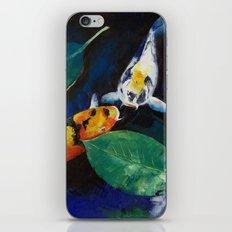 Koi and Banyan Leaves iPhone & iPod Skin