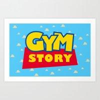Gym Story Art Print