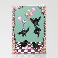 Crow Serie :: Eye Balloo… Stationery Cards