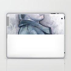 Data as Sherlock Holmes Watercolor Laptop & iPad Skin
