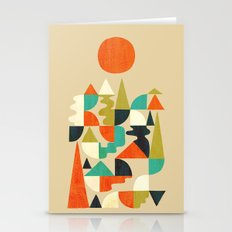 Mountains Hills and Rivers Stationery Cards