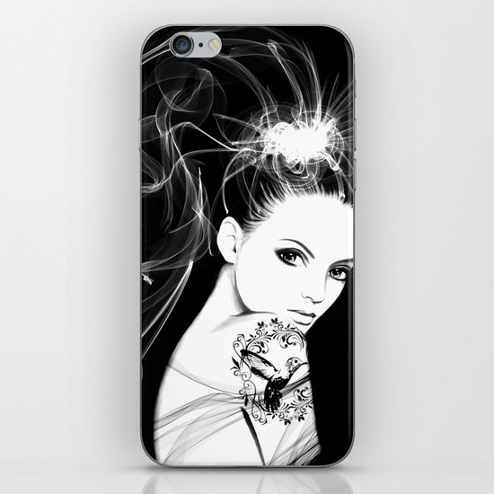 Smoke Girl iPhone & iPod Skin
