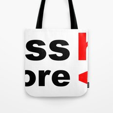 less hate, more heart Tote Bag