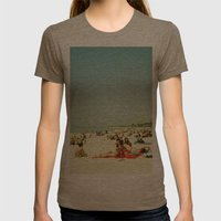 Summer Sun Womens Fitted Tee Tri-Coffee SMALL
