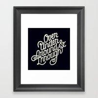 Over Under Around & Thro… Framed Art Print