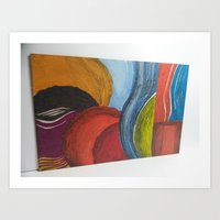 Bumble - A different look at Abstract Art Art Print