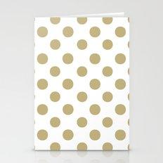 Polka Dots (Sand/White) Stationery Cards