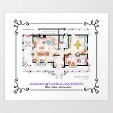 House of Lorelai & Rory Gilmore - Ground Floor Art Print