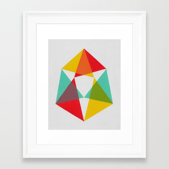 Triangles Framed Art Print