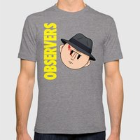 Who Observes the Observers? Mens Fitted Tee Tri-Grey SMALL