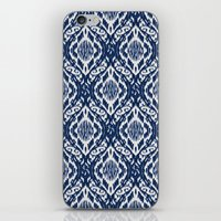 Damask Ikat: Navy And Of… iPhone & iPod Skin