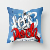 Let's Rock Around The World Throw Pillow
