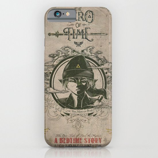 Legend of Zelda Link the Hero of Time Vintage Book Cover iPhone & iPod Case