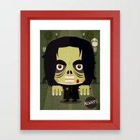 Alan Zombie Framed Art Print
