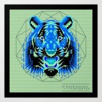 Geometric Tiger Art Print