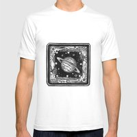 Saturn Mens Fitted Tee White SMALL