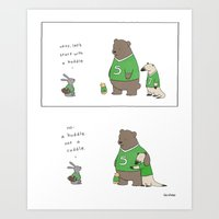Cuddle Art Print