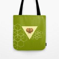 Geometric Snail Tote Bag