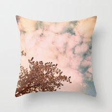 Marshmallow sky Throw Pillow