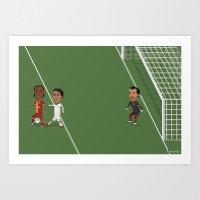Drogba's backheel goal Art Print
