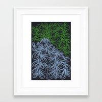 Light Green And Gray Dro… Framed Art Print