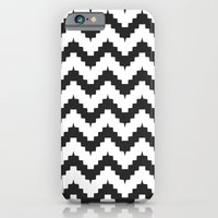 iPhone & iPod Case featuring Funky chevron - black by ravynka