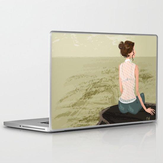 Girl by the Sea Laptop & iPad Skin