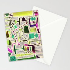Modern Furniture Collage Stationery Cards