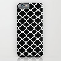 Black and White Graphic Flower iPhone 6 Slim Case