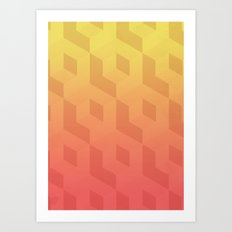 Cubic Spring Art Print