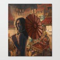 Downtown Oniopolis Marke… Canvas Print