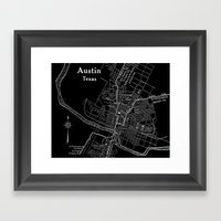 Vintage Austin Negative Framed Art Print