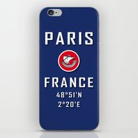 Paris France Love iPhone & iPod Skin
