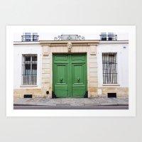 Envy - Ornate Parisian Door Art Print