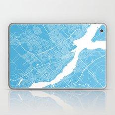 Quebec Map Blue Laptop & iPad Skin