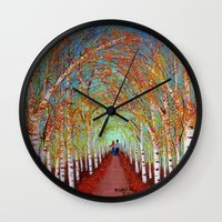 Autumn Birch  Wall Clock