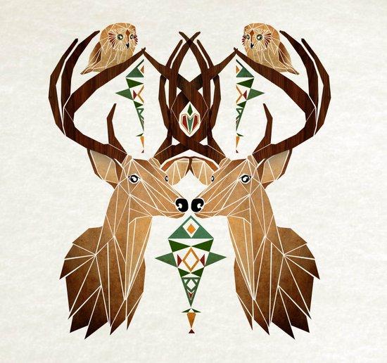 deer owl Art Print
