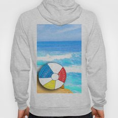Beach Ball Over Cliff Hoody