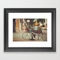 The Bike With The Flower… Framed Art Print