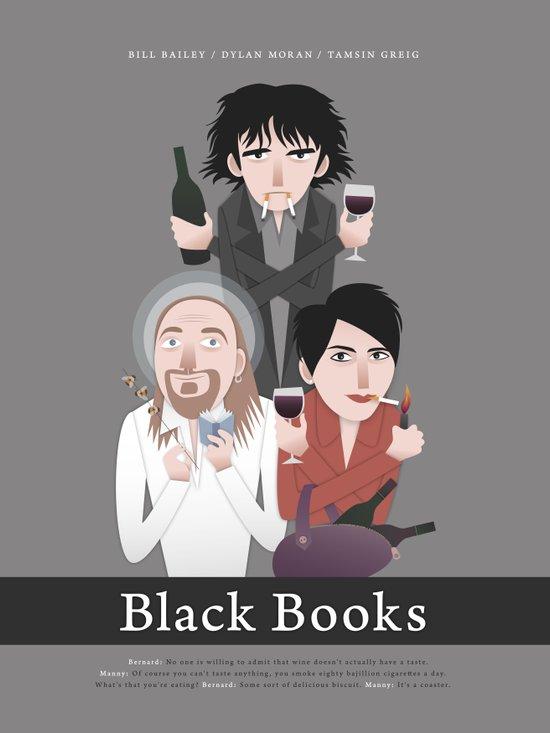 Black Books Art Print