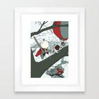 Todd Climbs a Tree Framed Art Print