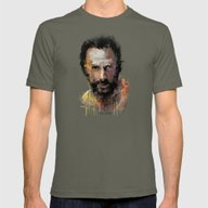 The Walking Dead Rick Mens Fitted Tee Lieutenant SMALL