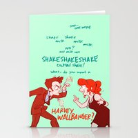 HOW IS HARVEY WALLBANGER ONE WORD Stationery Cards