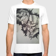 Expression White Mens Fitted Tee SMALL