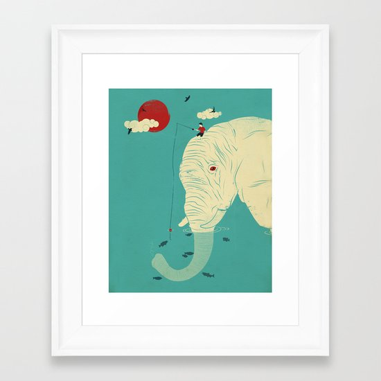 Fishin' Buddy Framed Art Print