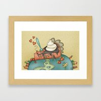 Giant Happy Pie Framed Art Print