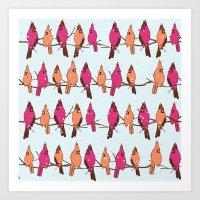 Cardinal Party Line Art Print