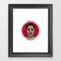 Derrick Rose Badge Illus… Framed Art Print