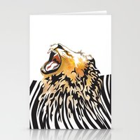 lion barcode Stationery Cards